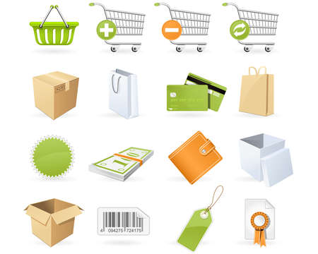 Shopping and retail icons Illustration