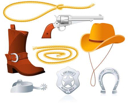 vaquero: Accesorios de Cowboy Vectores