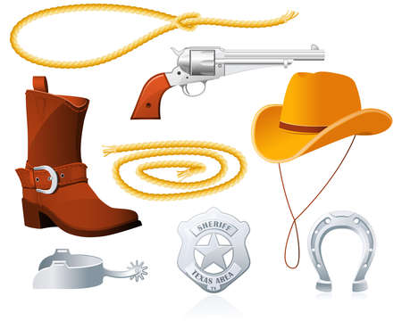 sheriff: Cowboy Accessories Illustration