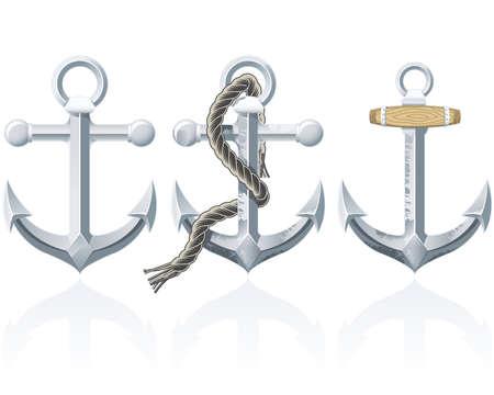 navy: Rusty Anchor Illustration