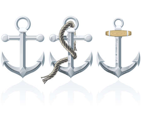 an anchor: Rusty Anchor Illustration