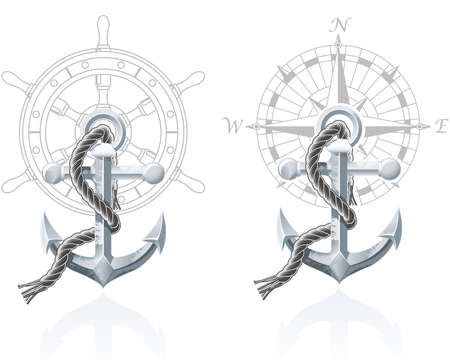 Nautical emblems Stock Vector - 8809198