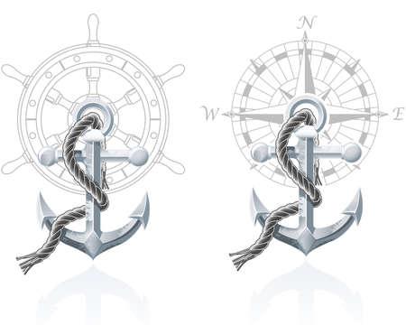 anker: Nautische Embleme