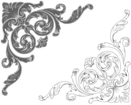 acanthus: Classic ornamental corners Illustration