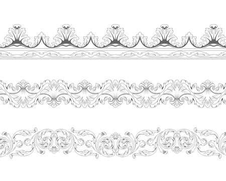 acanto: Ornamentales fronteras recurrentes en estilo cl�sico