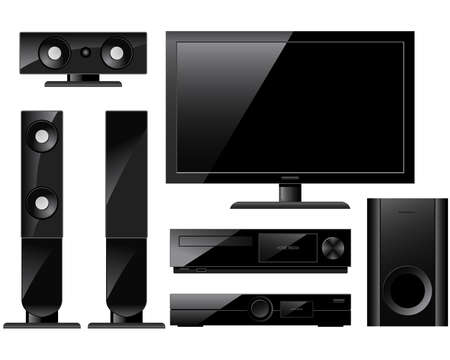 Home theater system Stock Vector - 9069504
