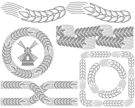 cebada: Adorno de orejas de trigo
