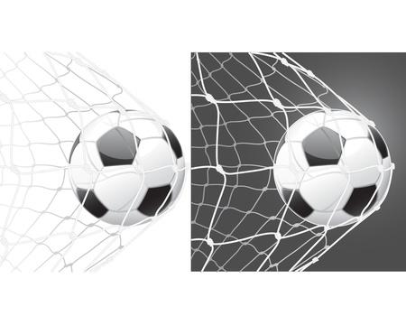 football net: Score a goal, soccer ball