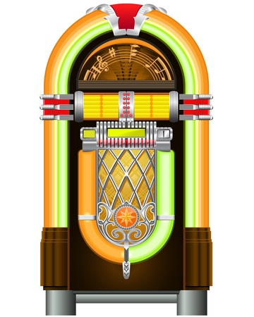 music machine: Jukebox - automated retro music-playing device