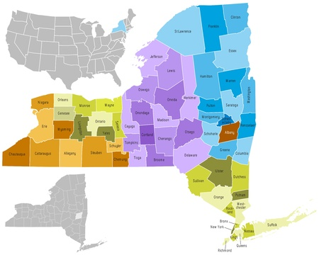 new york map: New York state counties
