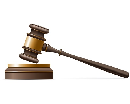 judge: Judge gavel and sound block