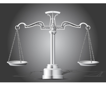 antique weight scale: Scales of Justice