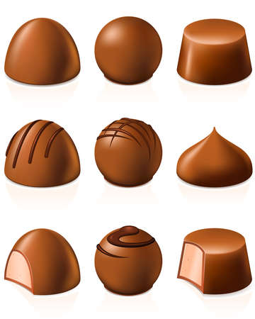 Chocolate candies Stock Vector - 10981160