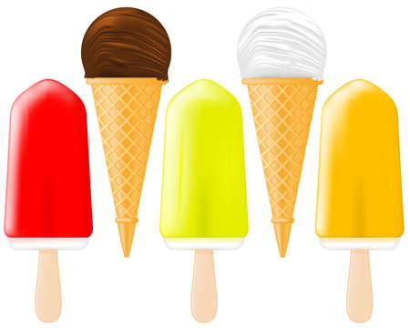 ice cream sundae: Ice Cream and Popsicle