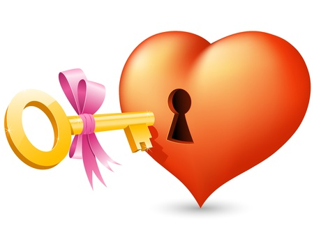 Heart with keyhole and key Stock Vector - 12009539