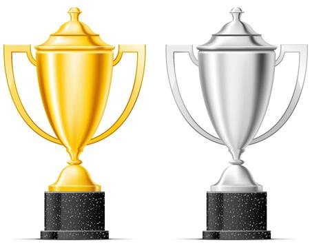 trophy award: El oro y la copa de plata