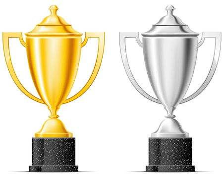 Gold and silver cup Vector