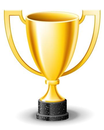 Golden cup Stock Vector - 12209369