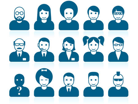 Simple people avatars Stock Vector - 14181571