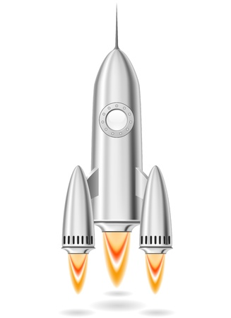 Metal rocket launch made with gradient mesh Stock Vector - 14620585