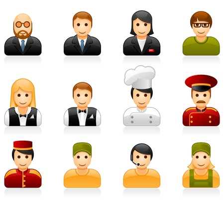 the bookkeeper: Hotel and restaurant staff icons