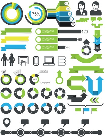 Infographics - statistic elements and icons Vector