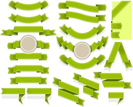 spruchband: Satz von leeren Bändern und Fahnen der unterschiedlichen Form