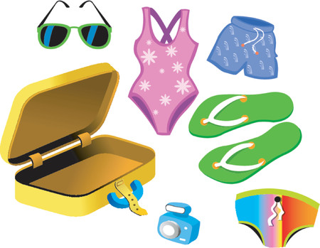 smack: Bathing Suits and travelling bag