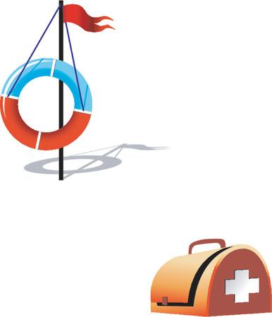 firstaid: Ring-boya y de primeros auxilios establecidos