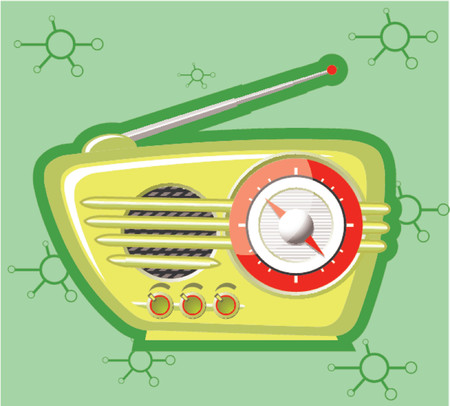 fm radio: Retro radio Illustration