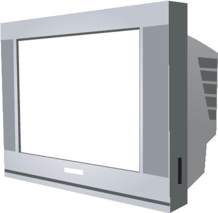 set de television: Moderno televisor CRT Vectores