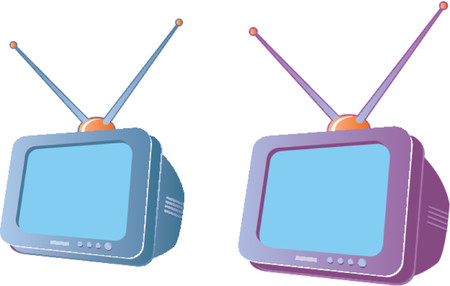 television aerial: Cartoon television set