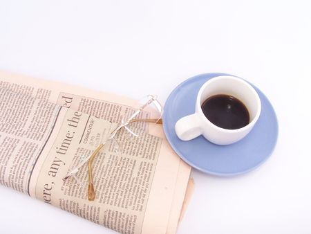 think through: Business coffee Stock Photo