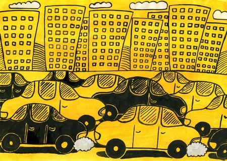 stop pollution: Traffic jams