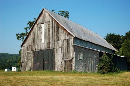 barnwood: Antiguo Kentucky EE.UU. meteorizado Granero