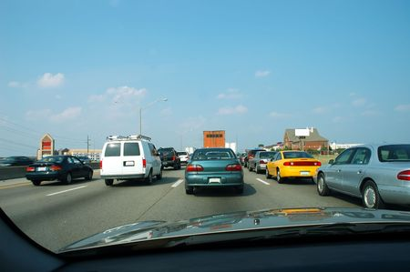 tiring: Traffic Jam in Kentucky, USA Stock Photo