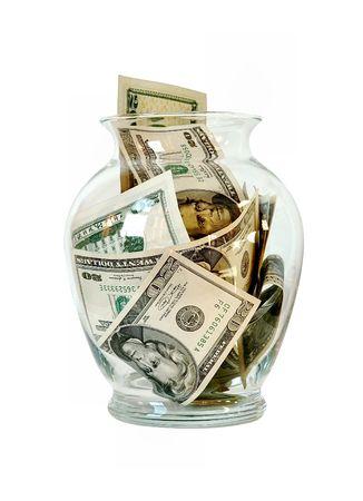 stash: US Money in a Glass Jar