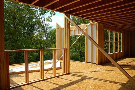 Construction - House Framing Stock Photo