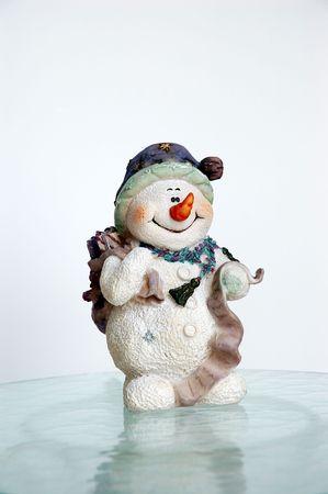 Vintage Snowman on Ice Stock Photo - 233009