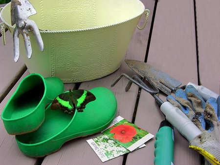 Gardening Gear Stock Photo