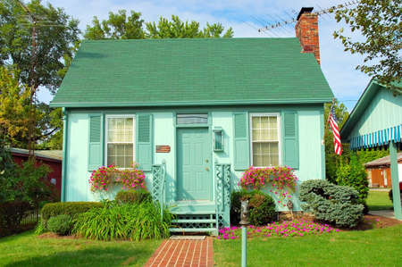 Small Cottage Home in the USA Stock Photo