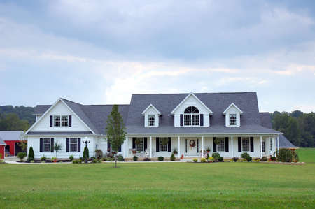Farm House - A typical farm house in the country in the USA.