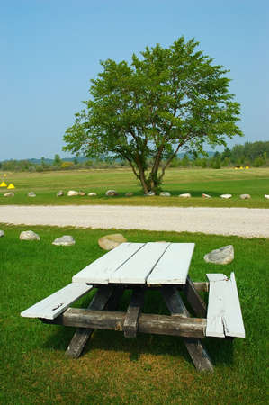 Picnic Table Picnic Table In The Countryside In Michigan USA - Picnic table michigan
