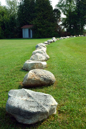Curved Path of Rocks