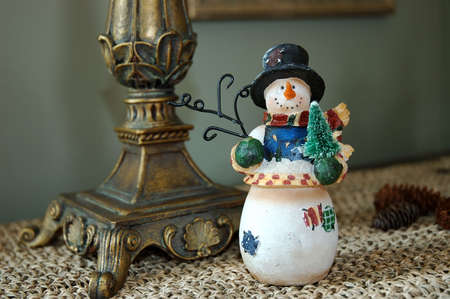 carrot tree: Snowman Stock Photo