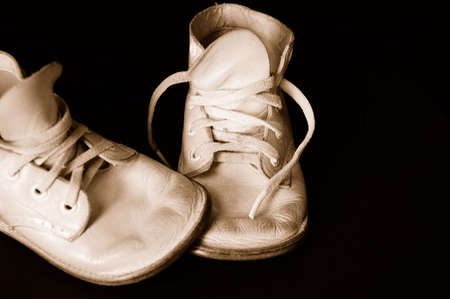 footware: Vintage  Shoes - Vintage well worn  shoes.