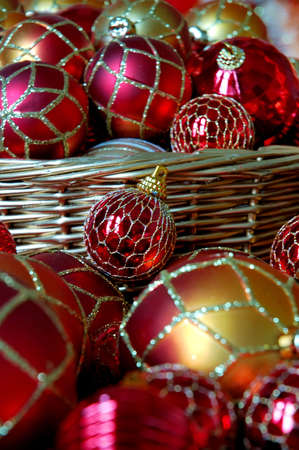 red glittery: Christmas Ornaments