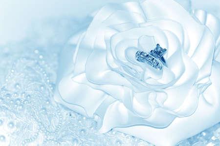 Wedding background tinted soft blue. photo