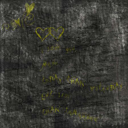 Grunge love abstract blackboard background. photo