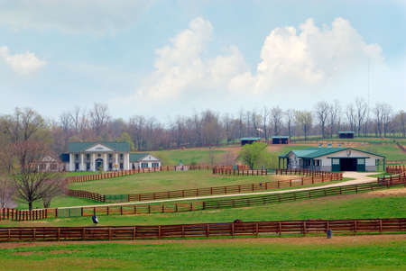 kentucky: A beautiful horse ranch near Lexington Kentucky USA.